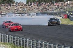 Centro del motor de Rudskogen (festival del coche de carreras) Fotografía de archivo libre de regalías