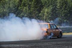 Centro del motor de Rudskogen (festival del coche de carreras) Imagen de archivo libre de regalías