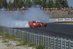 Centro del motor de Rudskogen (festival del coche de carreras) Fotos de archivo libres de regalías