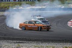 Centro del motor de Rudskogen (festival del coche de carreras) Imágenes de archivo libres de regalías