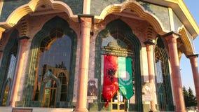 Centro del mundo de Bektashi en Tirana almacen de metraje de vídeo