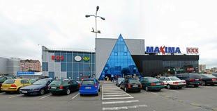 Centro del negozio di massimi in via di Ukmerges della città di Vilnius Immagine Stock