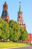 Centro del paisaje urbano de la mañana de Moscú Imágenes de archivo libres de regalías