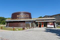 Centro del parco nazionale di Königsstuhl nel parco nazionale i di Jasmund fotografia stock