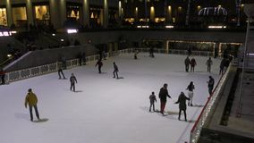 Centro del patinaje de hielo Rockefeller metrajes