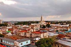 Centro del patrimonio mondiale dell'Unesco di Camaguey da sopra Immagini Stock Libere da Diritti