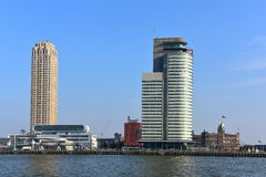 Centro del porto del mondo, un grattacielo di 33 piani che alloggia il porto di autorità di Rotterdam Fotografia Stock Libera da Diritti