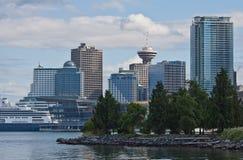 Centro del porto e posto Vancouver del Canada Fotografia Stock Libera da Diritti