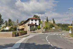 Centro del pueblo de Smartno en Eslovenia Fotos de archivo