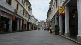 Centro del pueblo viejo y de ciudad antigua de Chaozhou en Teochew en Guangdong, China almacen de video
