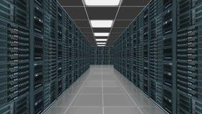 Centro del server di dati Fotografia Stock Libera da Diritti