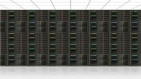 Centro del server di dati Immagini Stock