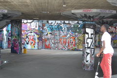 Centro del sud Londra della Banca del parco del pattino Fotografie Stock Libere da Diritti