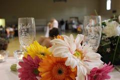 Centro del tavolo di nozze Immagine Stock Libera da Diritti