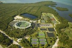 Centro del tenis del parque de Crandon   Foto de archivo libre de regalías