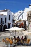 Centro del villaggio, Frigiliana, Spagna. Fotografie Stock