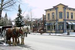 Centro del visitante, Breckenridge, Colorado Imagen de archivo libre de regalías