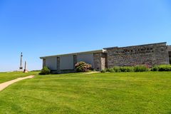 Centro del visitante de NPS en el campo de batalla del nacional de Antietam Imágenes de archivo libres de regalías