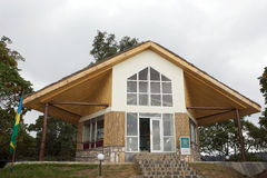 Centro del visitante del parque nacional de Nyungwe en Uwinka Foto de archivo libre de regalías
