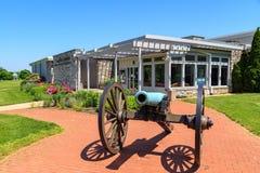 Centro del visitante en el campo de batalla del nacional de Antietam Imagen de archivo