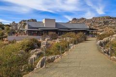Centro del visitante en reserva natural Foto de archivo