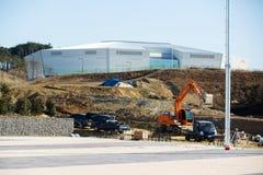 Centro dell'hockey di Gangneung della costruzione nel parco olimpico Fotografia Stock