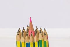 Centro dell'inserzione della matita di colore della matita del pacco Fotografie Stock Libere da Diritti