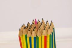 Centro dell'inserzione della matita di colore della matita del pacco Fotografia Stock Libera da Diritti