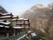 Centro dell'ospite della montagna di Wudang fotografia stock libera da diritti