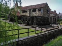 Centro dell'ospite per ?il Mouseman ?a Kilburn, North Yorkshire fotografie stock