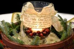 Centro della candela di Natale Immagini Stock