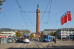 Centro della città Darmstadt, Germania Fotografie Stock Libere da Diritti