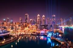 Centro della città del Dubai, Dubai, Emirati Arabi Uniti Fotografia Stock