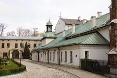 Centro della città della Polonia Cracovia vecchio fotografia stock libera da diritti