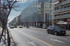 Centro della città di Atene immagini stock libere da diritti