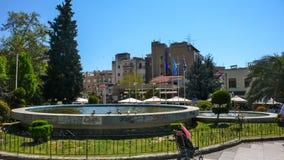 Centro della città di Serres, Grecia fotografia stock libera da diritti