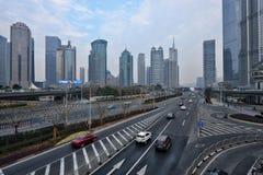 Centro della città di Shanghai Fotografia Stock