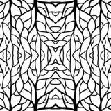 Centro della radice dell'illustrazione del modello per il tessuto e l'alta moda di stampa illustrazione vettoriale