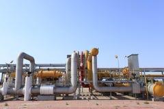 Centro della raffineria in Siberia ad ovest Fotografie Stock Libere da Diritti