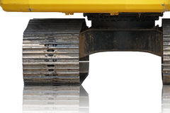 Centro della ruota sinistra del trattore a cingoli (fuoco selezionato) Fotografia Stock