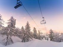 Centro dello sci della Vogel-Slovenia Fotografie Stock
