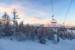 Centro dello sci di Vogel in montagne Julian Alps Immagine Stock Libera da Diritti