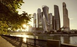 Centro di affari dell'internazionale della città di Mosca fotografia stock