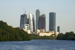centro di affari della Mosca-città Fotografia Stock