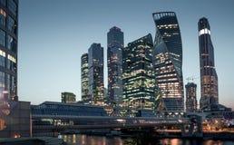 Centro di affari internazionale della città di Mosca, Russia Immagini Stock