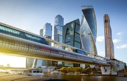 Centro di affari internazionale della città di Mosca, Russia Immagine Stock