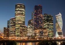 Centro di affari internazionale della città di Mosca, Russia Fotografie Stock Libere da Diritti