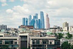 Centro di affari internazionale di Mosca della città di Mosca, Russia Immagine Stock Libera da Diritti