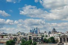 Centro di affari internazionale di Mosca della città di Mosca, Russia Immagini Stock