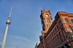 Centro di Berlino e torre della TV Immagine Stock Libera da Diritti